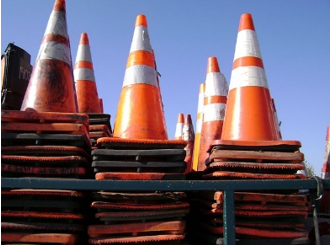 stacks construction cones