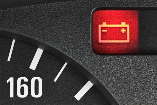 battery warning light car dashboard