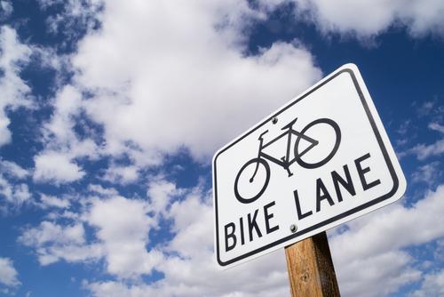 bike lane street sign