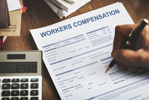 filling out workers compensation form