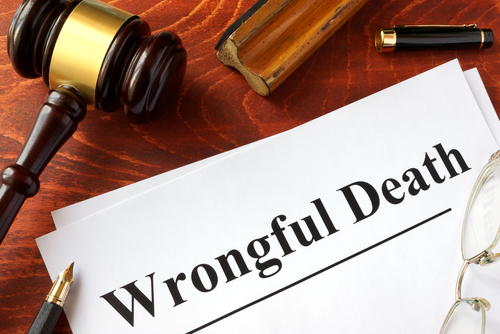 wrongful death courtroom paperwork