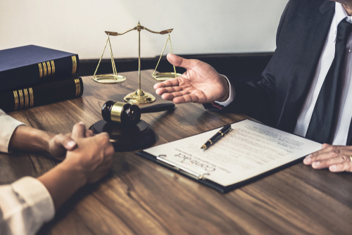 business consultation with lawyer