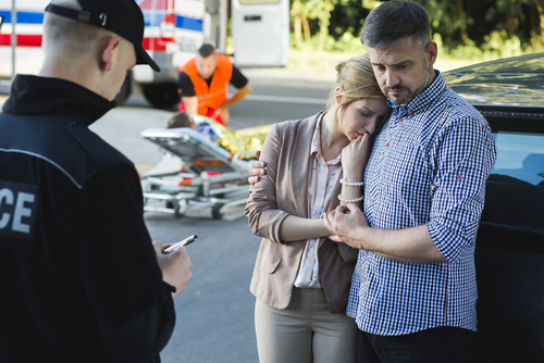 Anxious parents of an accident